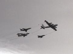 United States Air Force Formation (Ayronautica) Tags: mcdonnellf101voodoo douglasb66destroyer northamericanf100supersabre boeingkb50jsuperfortress formation unitedstatesairforce usaf 1961 september egql leuchars scanned airshow aviation ayronautica