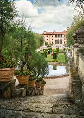 Garden Steps- (lornahamblin) Tags: miami florida vizcaya summer home jamesdeering wealth gardens riches texture