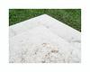 Alchimie (hélène chantemerle) Tags: triangle neige herbe terre blanc vert snow grass ground white green