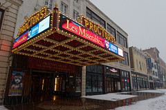 Proctors Marquee (fotofish64) Tags: proctors proctorstheatre theater moviehouse movie entertainment marquee sign vaudevillehouse offbroadway lesmiserables wideangle perspective downtown city schenectady downtownschenectady word building winter snowfall snowstorm weather capitaldistrict newyork outdoor pentax pentaxart kmount k70 hdpentaxda1685mmlens red color blue