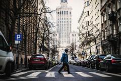 Midtown (ewitsoe) Tags: city man crossing warsaw winter ziman urban vibes atmosphere street streets canon eos 6dii ewitsoe euwop cars pedestrian