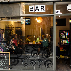 _DSF2143 (jose luis asensio) Tags: bar barcelona business catalonia city europe female females male males man men people raval selfprotrait spain street urban woman women