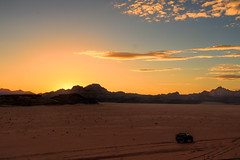 Beautiful Desert Sunset, Wadi Rum/Disah, Jordan (Aethelweard) Tags: disah aqabagovernorate jordan jo desert sunset beautiful canon sky sand hills mountains stunning spectacular