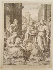 """HENRICK GOLTZIUS, """"ADORATION OF THE MAGI"""" ETCHING, @ 19 BY 14 INCHES, UNKNOWN STATE, CIRCA 1594@.  $2,500.. • <a style=""""font-size:0.8em;"""" href=""""http://www.flickr.com/photos/51721355@N02/38730238425/"""" target=""""_blank"""">View on Flickr</a>"""