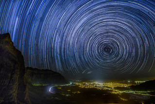 Pali Lookout Oahu Hawaii star trails nikon D850 joe marquez