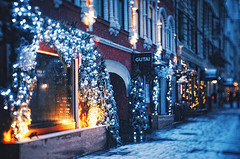 Winter morning I (AzureFantoccini) Tags: winter moscow russia street snow snowing new year newyear christmas holidays architecture lights fujian sonynex decorations morning