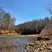 Blue Skies Above in a Setting of Hillsides and Trees along the Buffalo National River