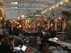 a coffee break (rotabaga) Tags: sverige sweden göteborg gothenburg linnéstaden linnegatan café iphone