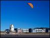 Kite Buggy 2011 [Explore] (Photon Star) Tags: kite buggy swansea beach orange blue landscape