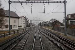 RhB/SBB - Domat/Ems (Kecko) Tags: 2018 kecko switzerland swiss schweiz graubünden graubuenden gr domat ems bahnhof station rhätischebahn rhaetian railway railroad bahn viafierretica rhb sbb eisenbahn track gleis rails weiche switch turnout schienen swissphoto geotagged geo:lat=46831810 geo:lon=9450880