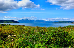 Scotland West Highlands Argyll the mountains of the island of Arran 9 August 2017 by Anne MacKay (Anne MacKay images of interest & wonder) Tags: scotland west highlands argyll sea coast mountains island arran landscape xs1 9 august 2017 picture by anne mackay