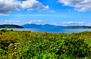 Scotland West Highlands Argyll the mountains of the island of Arran 9 August 2017 by Anne MacKay