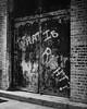 DSC00360 (wake.eat.sleep) Tags: chicago city urban street graffiti art message door alley bw