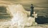 Ocean vs. Lighthouse (kalbasz) Tags: ocean lighthouse sea porto portugal outdoor jetty wave beach fuji xt2 xf1024 moment art fine