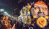 """The Man in the Moon"" (BKHagar *Kim*) Tags: bkhagar mardigras neworleans nola parade crowd party celebration people beads throws float floats night street napoleon uptown orpheus"