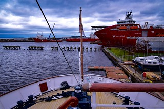 Stern of the Royal Yacht Britannia