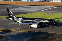 ZK-OAB, Airbus A320-232 of Air New Zealand. (David James Clelford Photography) Tags: zkoab airbusa320232 airnewzealand runway16 wellingtoninternationalairport wlg nzwn newzealand anz nz aircraft airplane airliner airport airbus aeroplane jet jetliner civilaviation aviation allblacks speciallivery