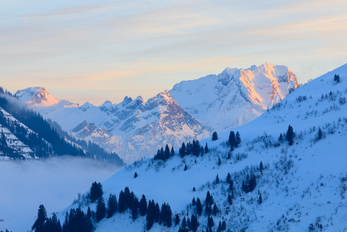 Winter scene in the Alps