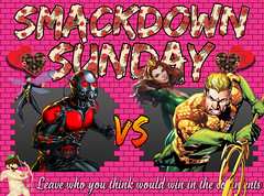 Smackdown Sunday- Valentine's Day Special- Ant-Man & The Wasp VS Aquaman & Mera (Luigi Fan) Tags: antman wasp marvel comics vs aquaman mera dc valentines day valentine
