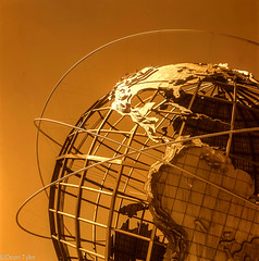 Unisphere (Dean OM) Tags: new york city queens unisphere worlds fair corona park blackandwhite bw dr5 efke25 efke 25 dev2 dev 2