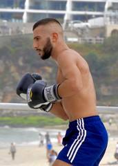 DSCN1577 (danimaniacs) Tags: sydney austrlia bondibeach man guy hot sexy shirtless beard scruff shorts boxer fighter spar