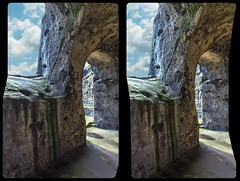 Regenstein castle 3-D / CrossView / Stereoscopy / HDR / Raw (Stereotron) Tags: sachsenanhalt saxonyanhalt ostfalen harz mountains gebirge ostfalia hardt hart hercynia harzgau burgregenstein megalithic megalith felsenburg rockcastle elfcastle stairstonowhere prehistoric prähistorisch europe germany crosseye crosseyed crossview xview cross eye pair freeview sidebyside sbs kreuzblick 3d 3dphoto 3dstereo 3rddimension spatial stereo stereo3d stereophoto stereophotography stereoscopic stereoscopy stereotron threedimensional stereoview stereophotomaker stereophotograph 3dpicture 3dglasses 3dimage canon eos 550d chacha singlelens kitlens 1855mm tonemapping hdr hdri raw