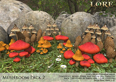 {LORE} Mushroom Pack 2 (LalaLamour) Tags: lore {lore} sl secondlife whimsical landscaping fantasy medieval homegarden forest