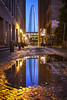 Blue Arch Alley Redux (Notley Hawkins) Tags: arch architecture sky stlouisarch stlouis stlouismissouri missouri evening night nocturne notley notleyhawkins 10thavenue lights httpwwwnotleyhawkinscom missouriphotography notleyhawkinsphotography usa water reflect thearch reflection summer june 2013 signs sign alley street archalley cobblestone cobblestonestreet wet puddle