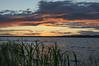 beach grass sunset (Barbara A. White) Tags: sunset ottawariver beachgrass clouds orange
