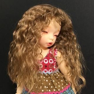 Littlefee hard cap wig of kid mohair