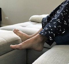 PJs relaxing (Ped-antics) Tags: sexy feet female foot footfetish femalefeet fetish toes toe soles sexyfemalefeettoessandalstoesbarelegsanklesheelshighheelsmulesslidessoles sexytoes sexyfeet ankles arches amateur