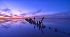 Mindfulness... (Jan Wedema) Tags: noordpolderzijl groningen usquert waddensea waddengebied eb sunset waddenzee silhouet pentax art mindfulness power colors colorsplash