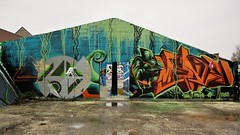 Mark, ASIT, Julia / Dok Noord - 19 feb 2018 (Ferdinand 'Ferre' Feys) Tags: gent ghent gand belgium belgique belgië streetart artdelarue graffitiart graffiti graff urbanart urbanarte arteurbano ferdinandfeys asit bertvuylsteke julia