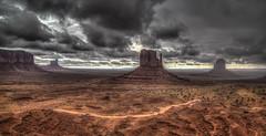 Monument Valley in the Rain (David Morton) Tags: oljatomonumentvalley arizona unitedstates canon canon6d hdr photomatix butte mittens monumentvalley canonef24105mmf4lisusm rain weather storm