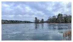 Wampatuck Pond (Timothy Valentine) Tags: 0118 island sky wampatuckpond 2018 large ice hanson massachusetts unitedstates us