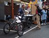 The hard sell (Ross Major) Tags: stall queen victoria market melbourne bike selling people shop street