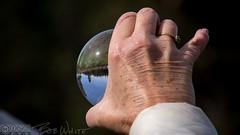 The world in her hand (Vurnman) Tags: california norcal nevadacounty grassvalley smithvineyard photowalk vineyard hand glassball witch