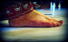 Wedding ceremony (Kris Lantijn) Tags: foot color marriage woman india henna festival krishna jewelry gold fine closeup macro