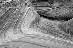 Exploring Navajo Sandstone (photo61guy) Tags: northcoyotebuttes thewave wave nikond7000 bw monochromenature monochrome az arizona landscape nature sandstone