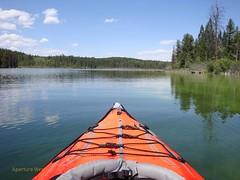 kayak on mountain lake (tbeckeryvr) Tags: sport sailing boating water mountains kayak canoe folding vacation lake holidays recreation peaceful