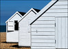 Holiday huts (Harleycy3) Tags: huts triangles beach white