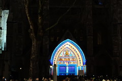 Light of the Spirit: Stained glass illuminations on Westminster Abbey (Bex.Walton) Tags: lumierelondon lumiereldn artichoketrust art lights illuminations london lightfestival architecture westminsterabbey londonbynight night patricewarrener lightofthespirit
