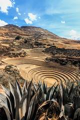 The Astounding Incan Moray Circles, Peru (Aethelweard) Tags: qosqo peru pe ancient history crop agriculture old mystery engineering historic huge land scenery sky