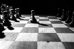 Pins and forks (JtDots.com) Tags: chess strategy figures bishop castle king queen square tactic game chessgame black white blackandwhite blackwhite bnw bw monochrome mono firstmove first move play forking horse