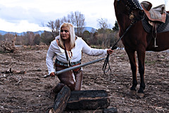 A l'aventure (Escarpel Photographie) Tags: thewitcher thewitcher3 witcher witcher3 ciri kelpie geralt thewitchergame videogame fantasyvideogame fantasy fantasyphotography character videogamecharacter fantasycharacter gaming gamingphotography gamingcharacter people blue feelings woman frenchwoman imaginativeworld imagination fantasyworld geek geekphotography horse ranch animal animalphotography equestrian equestrianphotography horseriding horseridingphotography rider hérault cessenonsurlorb orb languedocroussillon occitanie france southoffrance medieval medievalstyle medievalphotography winter sword legendsword february cold