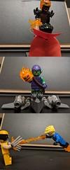 Marvel fight (Letgoofmylego) Tags: doctorstrange humantorch wolverine greengoblinlego lego marvelsuperheroeslego marvel minifigures migifig dormammu