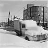 old truck, snow in Inglewood (andy curtis) Tags: film 120mm 6x6 monochrome blackandwhite 6x6cm mediumformat bw yashicamat square vintagecamera alberta winter snow calgary
