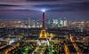 La Tour Eiffel (aurlien.leroch) Tags: france paris toureiffel eiffeltower sunset nikon cityscape night