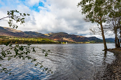 Serene Coniston Water (Keith in Exeter) Tags: coniston water lake lakedistrict mountain landscape shore tree briar ripple boat fells hills sky cloud serene nationalpark cumbria england english