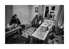 Dead woman (Jan Dobrovsky) Tags: funeral biogon21mm coffin ukraine counrtylife countryside people room leicam10 blackandwhite monochrome village indoor document death woman
